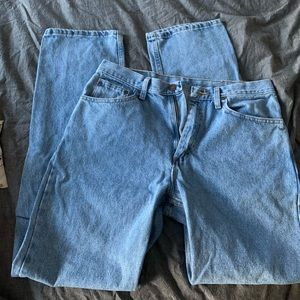 Wrangler Dad Jeans Gently Worn Light Wash